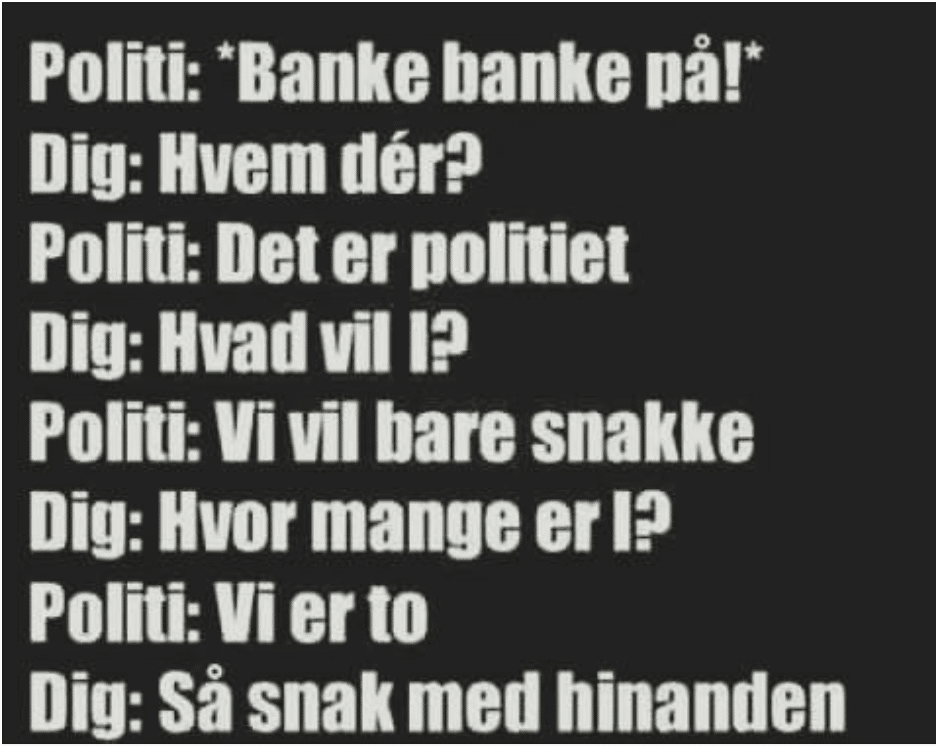 politiet moral danske ordsprog