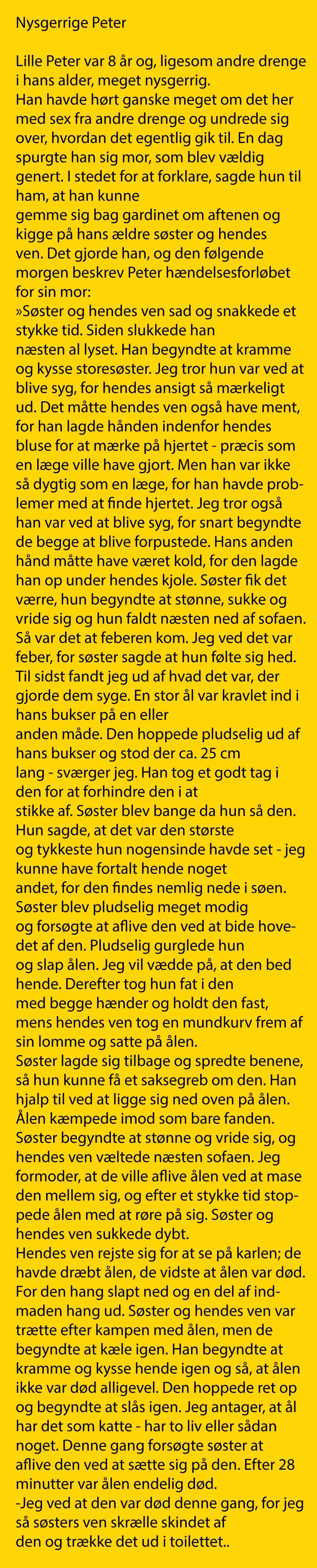 meget små bryster sjove gamle danske ord